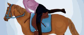 седловка коня