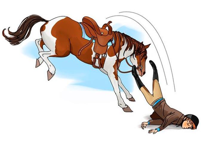 падение с коня